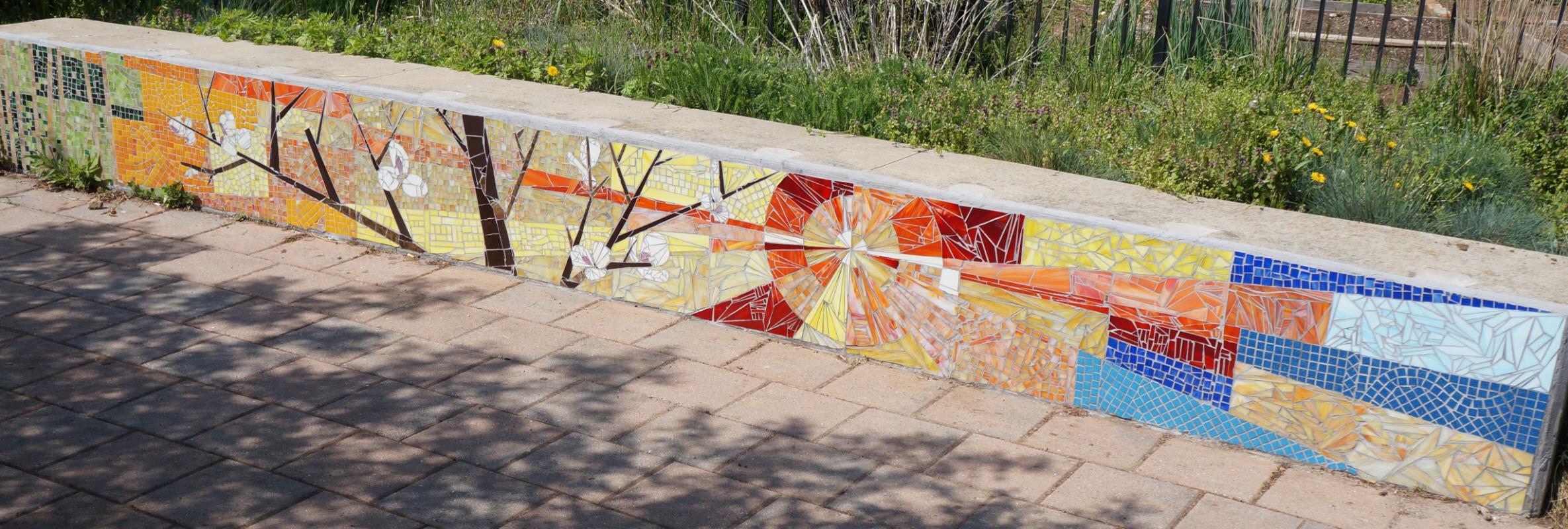 Philadelphia Public Art Summer Winter Community Garden Mosaic